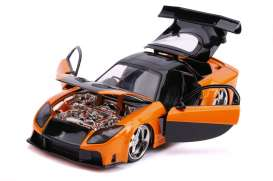 Mazda  - RX-7 F&F  1993 orange/black - 1:24 - Jada Toys - 30732 - jada30732 | The Diecast Company
