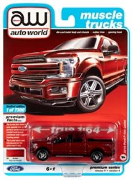 Ford  - F150 2018 ruby red - 1:64 - Auto World - SP032A - AWSP032A | The Diecast Company