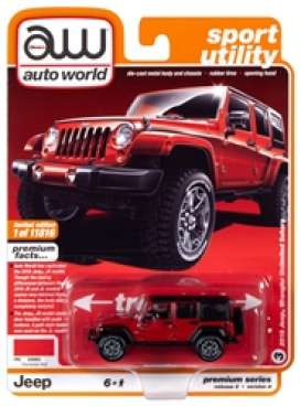 Jeep  - Wrangler 2018 red/black - 1:64 - Auto World - SP036A - AWSP036A | The Diecast Company