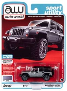 Jeep  - Wrangler 2018 silver/black - 1:64 - Auto World - SP036B - AWSP036B | The Diecast Company