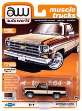 Chevrolet  - Bonanza 10 Truck 1977 brown - 1:64 - Auto World - SP038A - AWSP038A | The Diecast Company