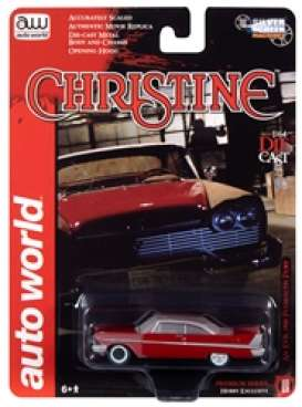 Plymouth  - Fury 1958 red - 1:64 - Auto World - SP039A - AWSP039A | The Diecast Company