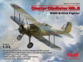 Planes  - Gloster Gladiator  - 1:32 - ICM - 32041 - icm32041 | The Diecast Company