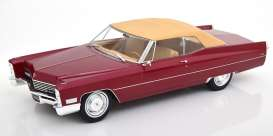 Cadillac  - DeVille  1967 red metallic - 1:18 - KK - Scale - 180316 - kkdc180316 | The Diecast Company