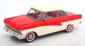 Ford  - Taunus 1957 red/white - 1:18 - KK - Scale - 180271 - kkdc180271 | The Diecast Company