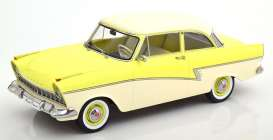Ford  - Taunus 1957 light yellow/white - 1:18 - KK - Scale - 180273 - kkdc180273 | The Diecast Company