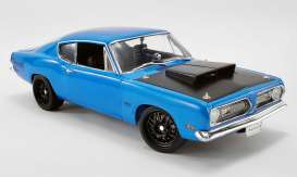Plymouth  - Hemi Cuda Street Fighter 1969 corparate blue - 1:18 - Acme Diecast - 1806117 - acme1806117 | The Diecast Company