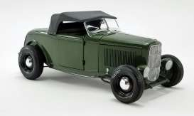 Ford  - Hot Rod *Pork Chops* 1932 olive drab - 1:18 - Acme Diecast - 1805018 - acme1805018 | The Diecast Company