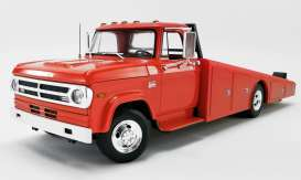 Dodge  - D300 Ramp Truck 1970 red/orange - 1:18 - Acme Diecast - 1801900 - acme1801900 | The Diecast Company