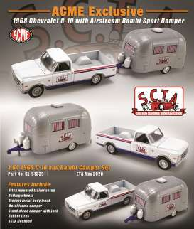 Chevrolet  - C-10 1968 white/silver - 1:64 - Acme Diecast - 51339 - acme51339 | The Diecast Company