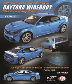 Dodge  - Charger SRT Hellcat 2020 blue/white - 1:18 - Acme Diecast - US031 - GTUS031 | The Diecast Company