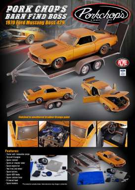 Ford  - Boss 429 Mustang 1970 orange - 1:18 - Acme Diecast - 1801838 - acme1801838 | The Diecast Company
