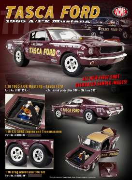 Ford  - Mustang A/FX Tasca Ford 1965 dark brown - 1:18 - Acme Diecast - 1801839 - acme1801839 | The Diecast Company