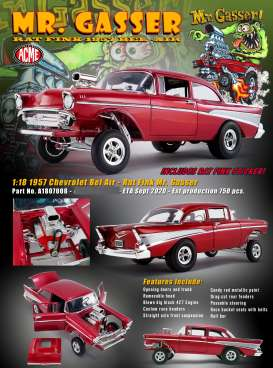 Chevrolet  - Bel Air Gasser 1957 red - 1:18 - Acme Diecast - 1807008 - acme1807008 | The Diecast Company