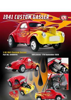 Willys  - Gasser  1941 red - 1:18 - Acme Diecast - 1800916 - acme1800916 | The Diecast Company
