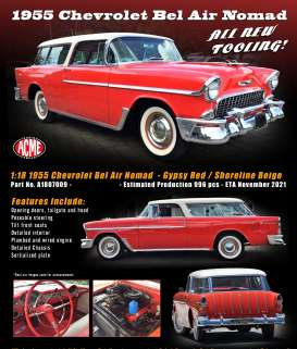 Chevrolet  - Bel Air Normad 1955  - 1:18 - Acme Diecast - 1807009 - acme1807009 | The Diecast Company