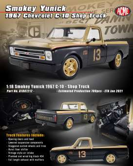 Chevrolet  - C10 1967 black/gold - 1:18 - Acme Diecast - 1807212 - acme1807212 | The Diecast Company