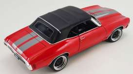 Chevrolet  - Chevelle Convertible Restomod 1970 bright red/gunmetal - 1:18 - Acme Diecast - 1805518 - acme1805518 | The Diecast Company