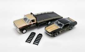 Ford  - F-350 Ramp Truck 1970 black/gold - 1:64 - Acme Diecast - 51341 - acme51341 | The Diecast Company