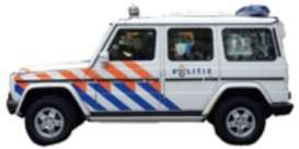 Mercedes Benz  - G-Class white/red/blue - 1:43 - Cararama - 53342 - cara53342 | The Diecast Company