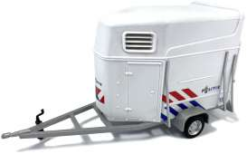 Trailer  - white/red/blue - 1:43 - Cararama - 92820 - cara92820 | The Diecast Company
