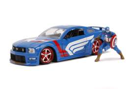 Ford  - Mustang GT 2006 blue/white/red - 1:24 - Jada Toys - 31187 - jada31187 | The Diecast Company
