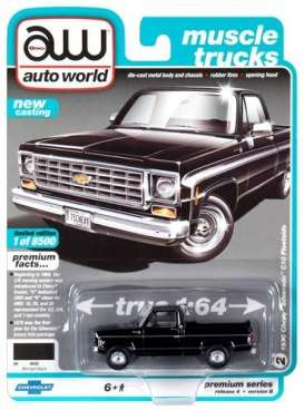 Chevrolet  - Silverado 1975 black - 1:64 - Auto World - SP030B - AWSP030B | The Diecast Company