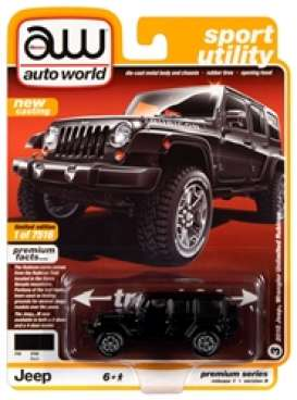 Jeep  - Wrangler 2018 black - 1:64 - Auto World - SP033B - AWSP033B | The Diecast Company