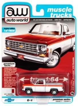 Chevrolet  - Scottsdale 1976 white/red - 1:64 - Auto World - SP034A - AWSP034A | The Diecast Company