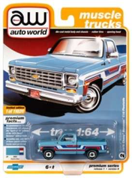 Chevrolet  - Scottsdale 1976 blue - 1:64 - Auto World - SP034B - AWSP034B | The Diecast Company