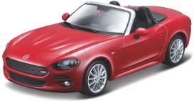 Fiat  - 124 Spider 2020 red - 1:43 - Bburago - 30424R - bura30424r | The Diecast Company