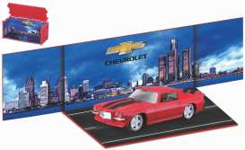 Chevrolet  - Camaro red/black - 1:64 - Bburago - 59122 - bura59122 | The Diecast Company