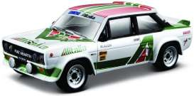 Fiat  - 131 Abarth white/green/red - 1:24 - Bburago - 28014 - bura28014 | The Diecast Company