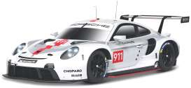 Porsche  - 911 white/grey/red - 1:24 - Bburago - 28013 - bura28013 | The Diecast Company