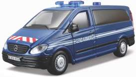 Mercedes Benz  - Vito blue/white/red - 1:50 - Bburago - 32009b - bura32009b | The Diecast Company