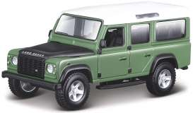 Land Rover  - Defender 110 green/white/black - 1:32 - Bburago - 43029gn - bura43029gn | The Diecast Company