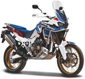 Honda  - Africa Twin white/blue - 1:18 - Bburago - 51082 - bura51082 | The Diecast Company