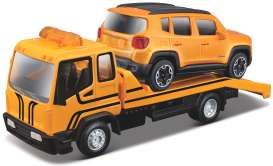 Jeep  - orange/black - 1:43 - Bburago - 31417 - bura31417 | The Diecast Company