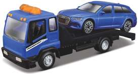 Audi  - blue/black - 1:43 - Bburago - 31418 - bura31418 | The Diecast Company