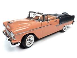 Chevrolet  - Bel Air 1955 coral/grey - 1:18 - Auto World - AMM1221 - AMM1221 | The Diecast Company
