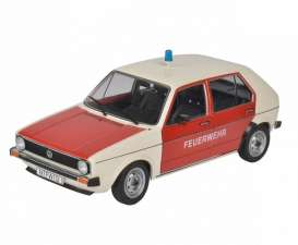 Volkswagen  - Golf 1983 white/red - 1:18 - Solido - 1800207 - soli1800207 | The Diecast Company