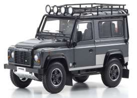 Land Rover  - Defender 90 dark grey - 1:18 - Kyosho - 8901TR - kyo8901TRgy | The Diecast Company