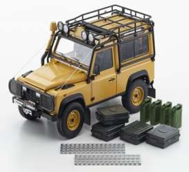 Land Rover  - Defender 90 yellow - 1:18 - Kyosho - 8901CT - kyo8901CTy | The Diecast Company
