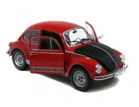 Volkswagen  - Beetle  red/black - 1:18 - Solido - 1185240 - soli1185240 | The Diecast Company