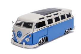 Volkswagen  - bus 1962 blue/white - 1:24 - Jada Toys - 99023 - jada99023 | The Diecast Company