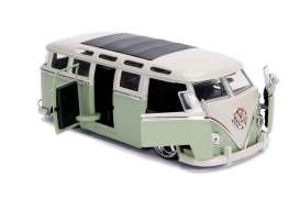 Volkswagen  - bus 1962 green/white - 1:24 - Jada Toys - 99025 - jada99025 | The Diecast Company