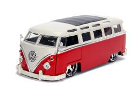Volkswagen  - bus 1962 red/white - 1:24 - Jada Toys - 99026 - jada99026 | The Diecast Company