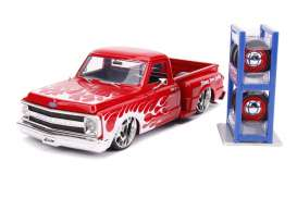 Chevrolet  - C10 Stepside 1969 red/flames - 1:24 - Jada Toys - 31397 - jada31397 | The Diecast Company