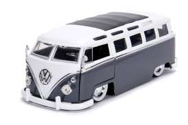 Volkswagen  - bus 1962 dark grey/white - 1:24 - Jada Toys - 99057 - jada99057 | The Diecast Company