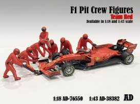 Figures diorama - Team Red #1 2020 red - 1:18 - American Diorama - 76550 - AD76550 | The Diecast Company